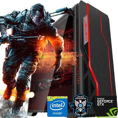 Computador Intervia AMD Ryzen 5 1600 3.20Ghz Six Core+ 8GB DDR4 + 1TB + GTX 1650 4GB DDR5