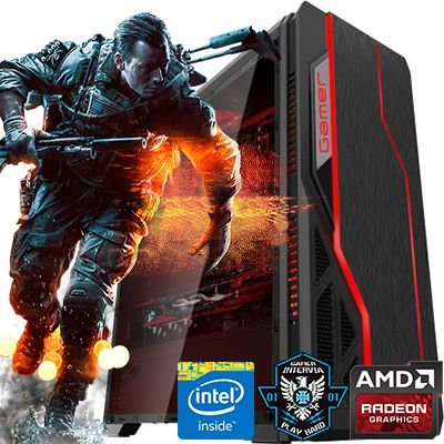 Computador Intervia AMD Ryzen 5 1500X 3.50Ghz + 8GB DDR4 + HD 1TB + GTX 1060 3GB DDR5