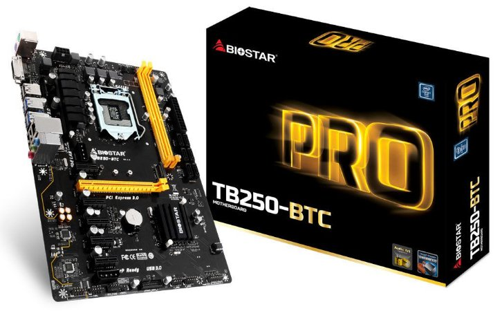 Placa Mãe Biostar Pro TB250-BTC DDR4 LGA1151 Chipset Intel B250