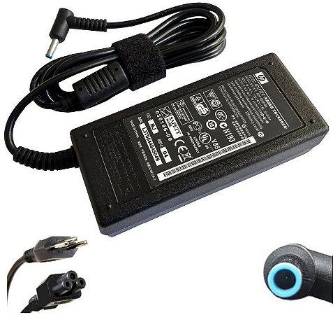 Fonte Carregador Notebook Hp Pino Azul 19.5V 3.33A 65W