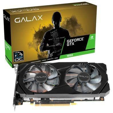Placa de Vídeo GALAX GeForce® GTX 1660 (1-Click OC) 6GB GDDR5 192-bit DP/HDMI/DVI-D