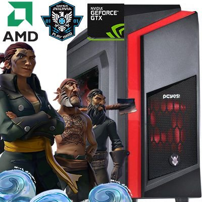 Computador Intervia AMD Ryzen 5 1400 3.20Ghz Quad Core + 8GB DDR4 + HD 1TB + Ati Radeon RX 550 4GB DDR5