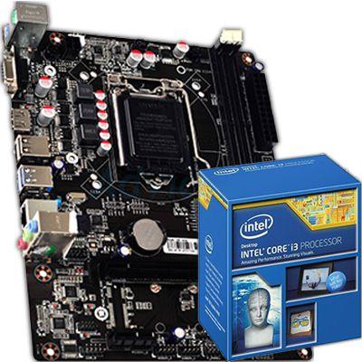 Kit Upgrade Processador Core i3-4130 3.50 Ghz + Placa Mãe  GHT TG-H81-G355-U HDMI DDR3