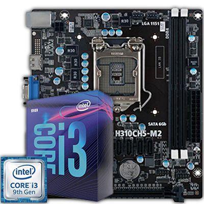 KIT UPGRADE, Processador Core i3-9100F 3.60 Ghz, Placa Mãe H310CH5-M2 DDR4