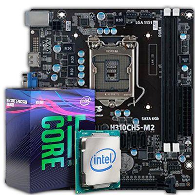 KIT UPGRADE, Processador Core i5-9400F 2.90 Ghz, Placa Mãe H310CH5-M2 DDR4