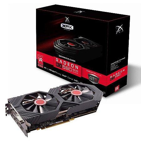 Placa de Vídeo XFX AMD Radeon RX 580 8GB DDR5 GTS XXX OC+ - RX-580P8DFD6