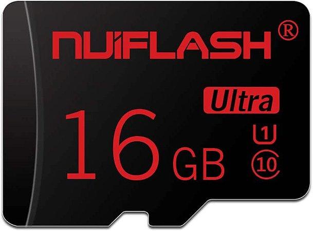 Cartão de Memória Nviflash 16GB High Speed Classe 10 SDHC + Adaptador SD