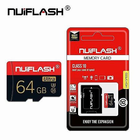 Cartão de Memória Nviflash 64GB High Speed Classe 10 SDHC + Adaptador SD