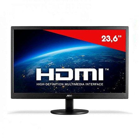 """Monitor Led 23,6"""" Aoc Widescreen Preto - M2470SWH2"""