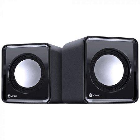 CAIXA DE SOM 2.0 USB 5V 2X 1W COM CONTROLADOR DE VOLUME - VS-01