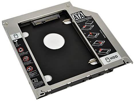 ADAPTADOR CADDY 12mm UNIVERSAL DE HD OU SSD 2.5 PARA LEITOR DE DVD
