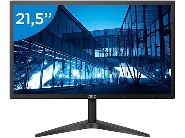 "Monitor LCD 21.5"" AOC Widescreen Full HD 22B1H Preto"
