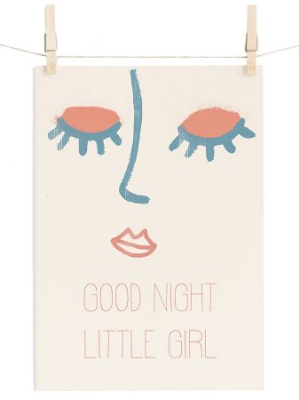 POSTER LITTLE GIRL GOOD NIGHT