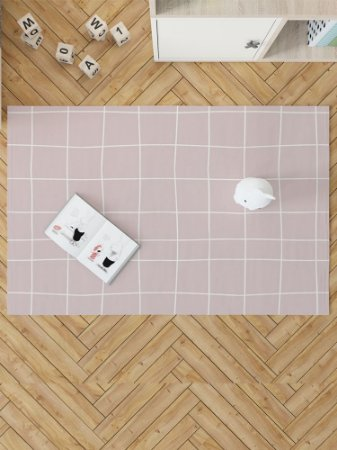 TAPETE CANDY GRID ROSA