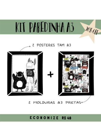 KIT PAREDINHA MONSTERS A3