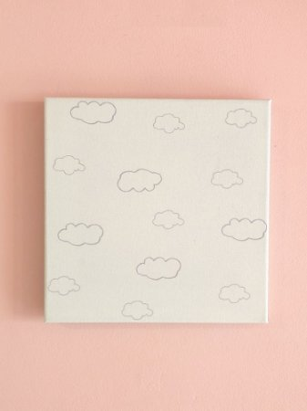 QUADRINHO CANVAS SELVA NUVENS