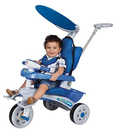 Triciclo Infantil Super Trike Azul Estofado - Magic Toys