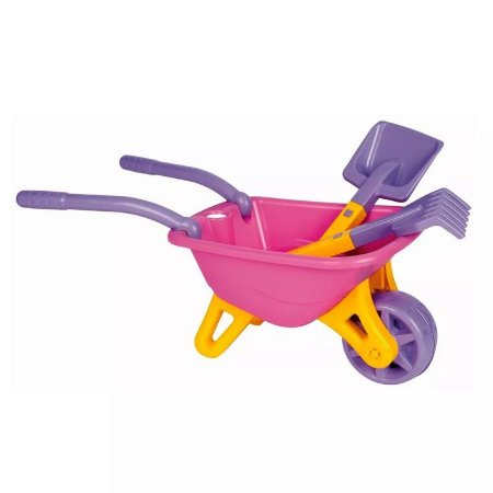 Big Carriola Infantil Rosa 845 - Magic Toys