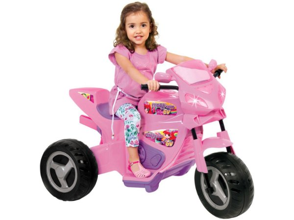 Moto Elétrica Infantil Meg Turbo 6V Rosa - Magic Toys
