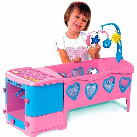 Berço Para Boneca Doce Sonho Rosa - Magic Toys