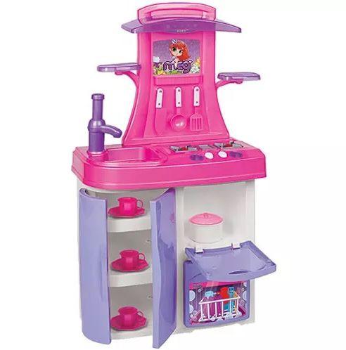 Cozinha Infantil Versátil Coleção Meg Rosa - Magic Toys