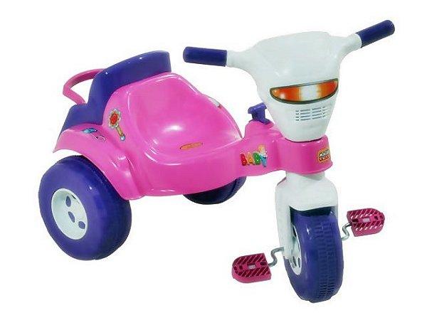 Triciclo Infantil Tico Tico Baby Rosa - Magic Toys