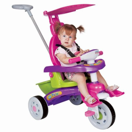 Triciclo Infantil Fit Trike Rosa C/ Empurrador - Magic Toys