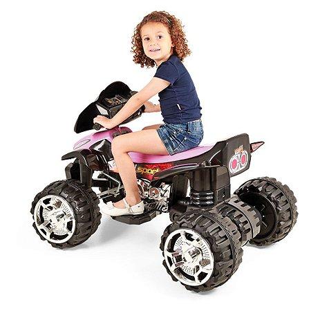 Quadriciclo Elétrico Infantil Fort Play Sport Rosa - Homeplay