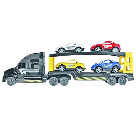 Caminhão Super Cegonha C/ Carrinhos - Homeplay
