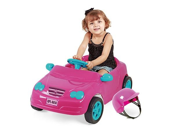 Carro a Pedal Infantil Mercedes Rosa - Homeplay