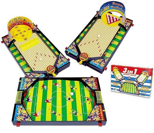 JOGO 3 EM 1 SPORT GAME - BRASKIT