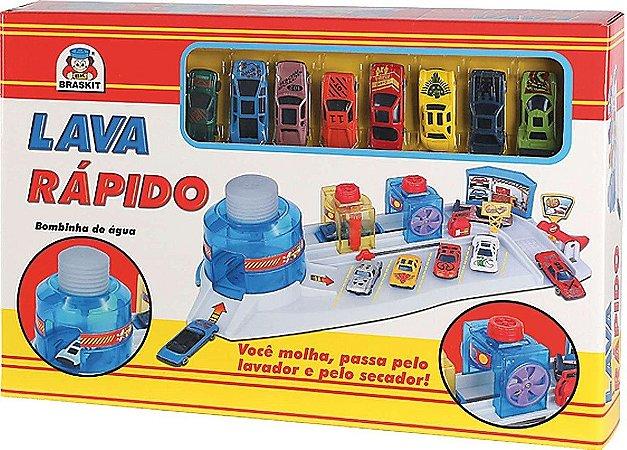 LAVA RÁPIDO COM 08 CARRINHOS - BRASKIT