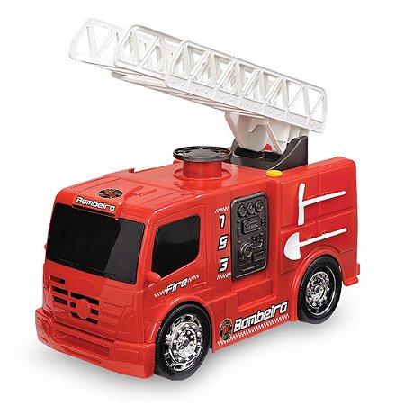 Bombeiro Caminhão Carrinho De Brinquedo Infantil Miniatura