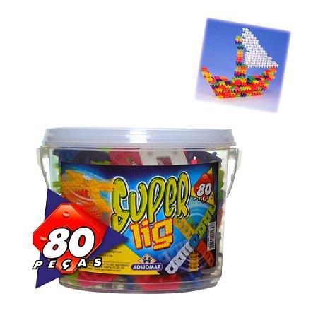 BALDE SUPER LIG COM 80 PEÇAS - ADIJOMAR