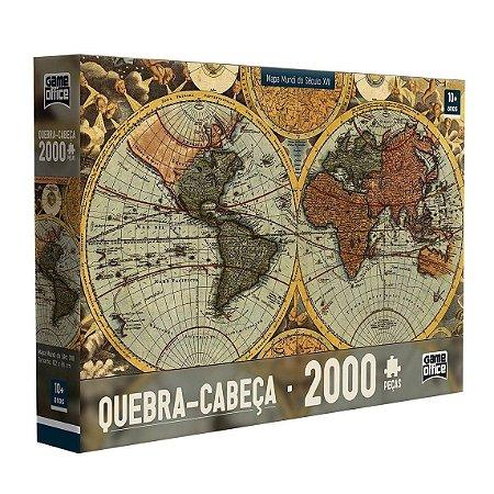QUEBRA-CABEÇA MAPA MUNDI DO SÉCULO XVII 2000 PEÇAS - TOYSTER