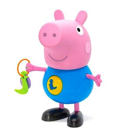 BONECO GEORGE COM ATIVIDADES PEPPA PIG - ELKA
