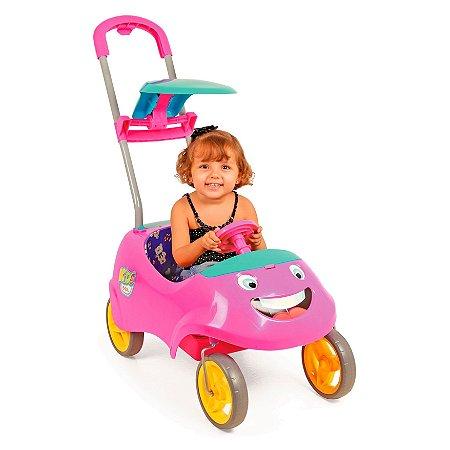 CARRINHO DE PASSEIO KIDS CAR ROSA - HOMEPLAY