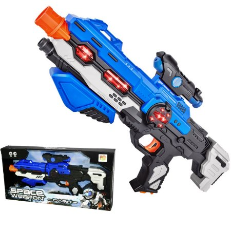 ARMA SPACE WEAPON DARK SUPER COM SOM E LUZ - DM TOYS