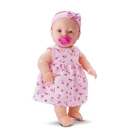 BONECA BABY FOFINHA DE VESTIDO FALA 106 FRASES - DIVERTOYS