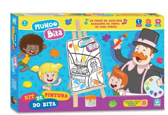 KIT DE PINTURA MUNDO BITA EM MADEIRA - NIG BRINQUEDOS