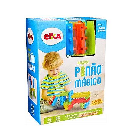 SUPER PINÃO MÁGICO 30 PEÇAS - ELKA BRINQUEDOS