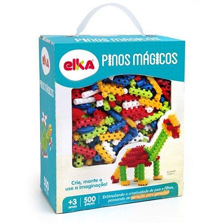 PINOS MÁGICOS 500 PEÇAS - ELKA BRINQUEDOS