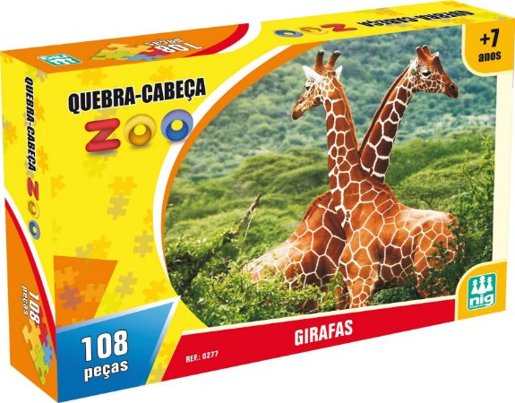 QUEBRA CABEÇA ZOO GIRAFAS 108 PEÇAS - NIG BRINQUEDOS