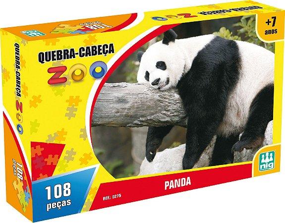 QUEBRA CABEÇA ZOO PANDA 108 PEÇAS - NIG BRINQUEDOS