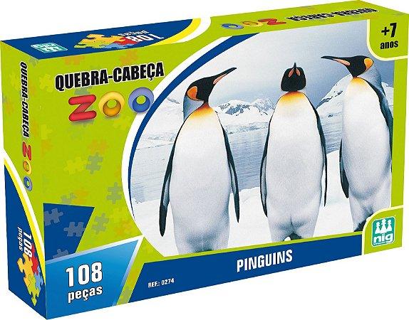 QUEBRA CABEÇA ZOO PINGUINS 108 PEÇAS - NIG BRINQUEDOS