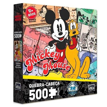 QUEBRA-CABEÇA MICKEY E PLUTO 500 PEÇAS - TOYSTER