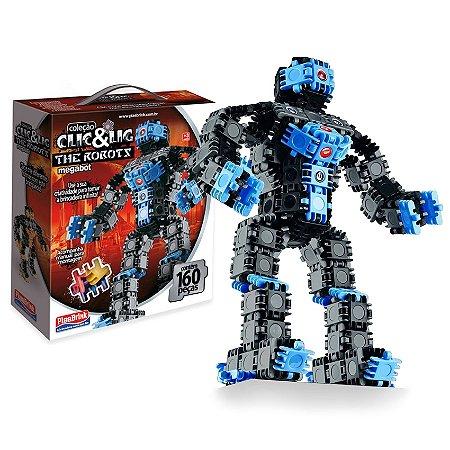 CLIC E LIG MEGA ROBOT 160 PEÇAS - PLASBRINK