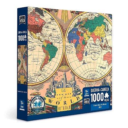 QUEBRA CABEÇA O NOVO MAPA DO MUNDO 1000 PEÇAS - TOYSTER