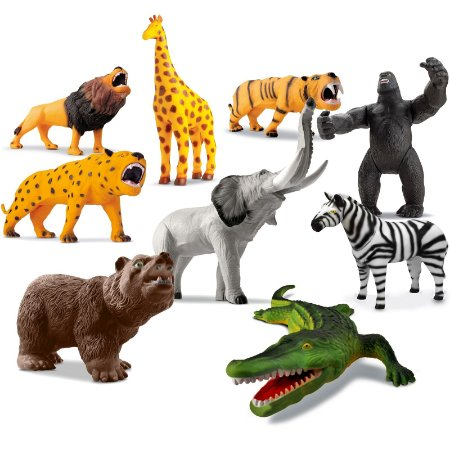 KIT ZOOLÓGICO 9 ANIMAIS - BEE TOYS