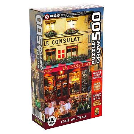 QUEBRA CABEÇA CAFÉ EM PARIS 500 PEÇAS - GROW